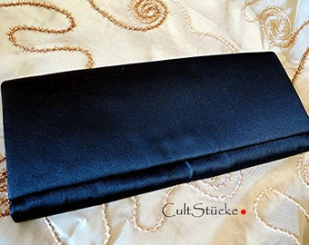 Classic vintage clutch satin black