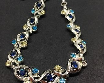 Coro 1940s Blue Necklace & Earrings