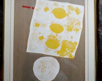 "Noboru Tsurutani Screenprint Pencil Signed Numbered ""Kunsho"" 1960's"
