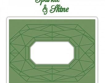 Sizzix Impresslits Cut & Emboss Embossing Folder - Diamond Geometrics 661954