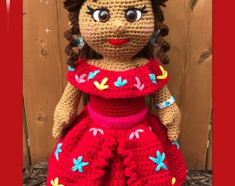 Elena of Avalor Amigurumi (PDF pattern only this is not the finished doll)