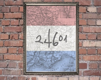 24601 Les Mis Inspired Wall Poster