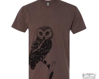 Mens URBAN OWL T-Shirt  s m l xl xxl (+ Color Options) zen threads screen printed custom