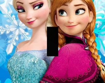 Elsa and Anna Frozen Single Light Switch Plate Cover