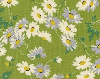 Peas and Carrots Daisies in Green - American Jane - Sandy Klop for Moda Fabrics - Out Of Print OOP VHTF Rare