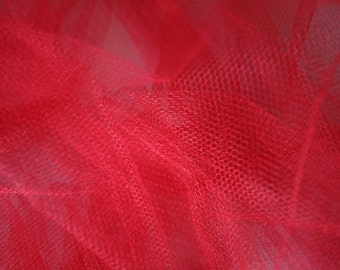 "Coral Tulle Fabric 56"" Wide Per Yard"