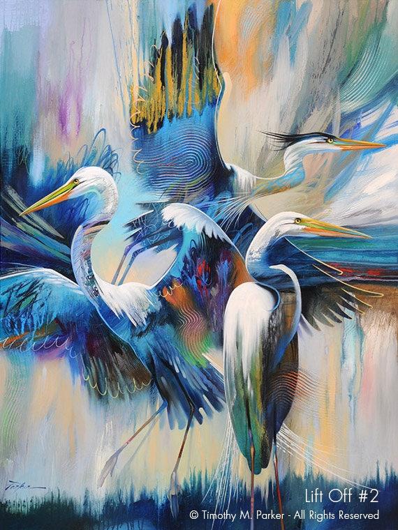 Contemporary Tropical Bird Art Modern Tropical Bird