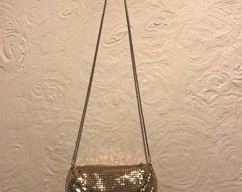 Vintage Handbag- Vintage ELKA Gold Coin Mesh Sequin Evening Bag