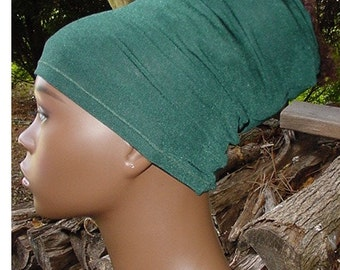 Natural Hair Accessories-Headband-HeadTube-Head Wrap - Headwrap - Locs-Forest Green