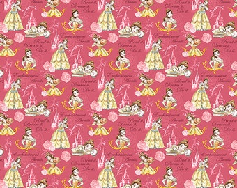 Disney Fabric Princess Belle Fabric Beauty and the Beast Fabric KNIT From Springs Creative