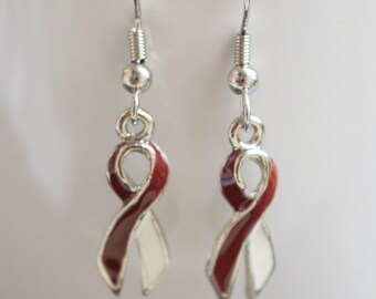 Head and Neck Cancer Ribbon Awareness Earrings