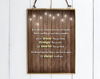 """Winnie The Pooh Quote PRINT - """"If Ever There Is A Tomorrow When We're Not Together... You Are Braver...""""  Disney Inspired Print."""
