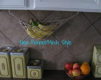 The Banana Hammock 2.0 - Natural Fiber Crochet Mesh/Fishnet Style Fruit Hammock