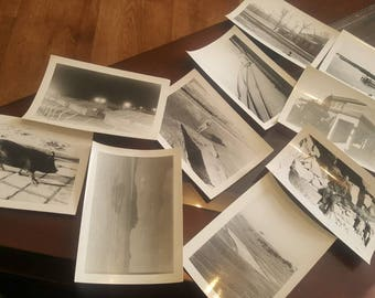 Korean war landscapes pictures B&W from 57th MP co korea lot of 10