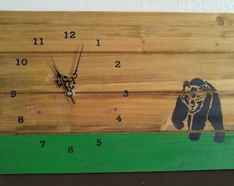 Wildlife Wood Clock