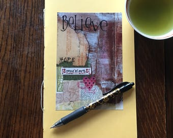 Moleskine Style Hand Made Journal - Motivational Quote
