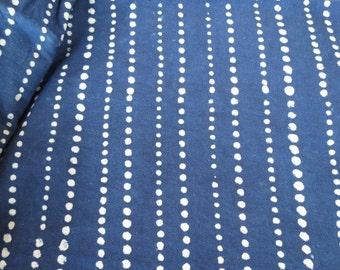 Indigo and White Dot Fabric
