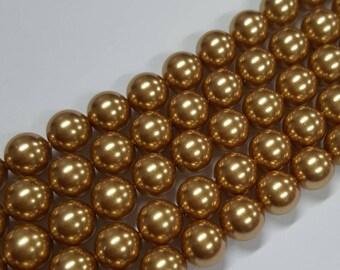 8mm Swarovski Crystal Pearls 5810 - BRONZE PEARL - Select 10, 20 or 50 Beads