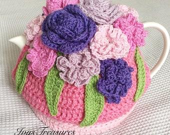 Crochet Rose/Flower Tea Cosy. Ann's Garden.