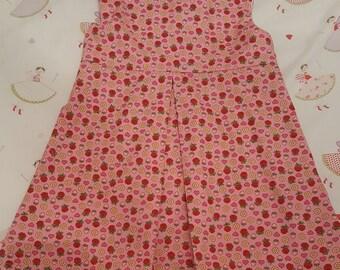 Pretty cotton pleated girls dress Age 2