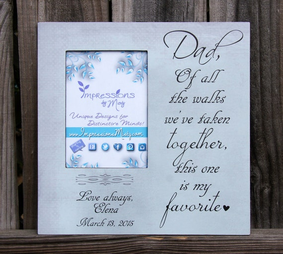 Father of the Bride gift, Father Daughter Wedding Frame, Picture ...