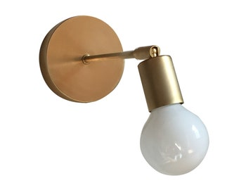Contemporary Brass Sconce • Alice • Wall Sconce • Brass Wall Light • Wall Lamp • Modern • Mid Century Light fixture • Wall Sconce
