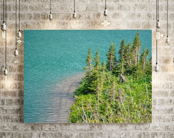 Glacier Lake Forest Canvas Wall Art
