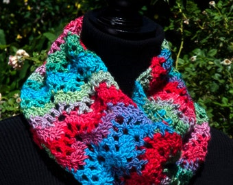 Crochet Cowl Pattern: Unforgettable Ripple Cowl, PDF download