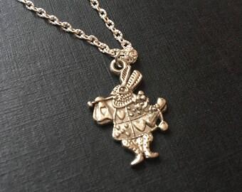 Alice rabbit necklace