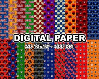 """Wrestlemania - Digital paper - 20 jpeg files 12x12"""" 300 dpi"""