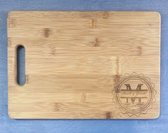 Personalized Cutting Board with Handle, Personalized Wedding gift.  Awesome for Couple's gift, Realtor Gift or Housewarming Gift