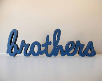 Brothers Sign, Sisters, Siblings Bedroom, Shared Bedroom, Playroom Decor