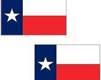 """Magnet 2 - 3"""" Texas State Square Flag Decal Set Tx American Vinyl Car Bumper Magnetic Sticker"""