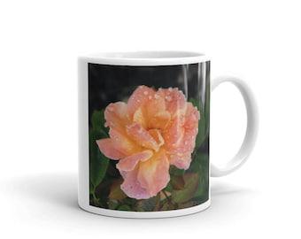 Raindrops on Roses Ceramic Coffe Mug