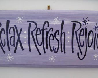 Relax -Wall Plaque