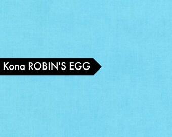 Kona Robin's Egg - Fabric by the Yard - Quilt Fabric - Solid Aqua Fabric - Robin's Egg Kona - Aqua Fabric - Robert Kaufman - Fat Quarter