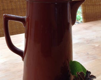 1957 Coffee Pot by Lovatts . Perfect condition. Earthenware. Tea/Coffee/Vintage Coffee Pots/ Rustic/ Kitchen display/Coffee shop