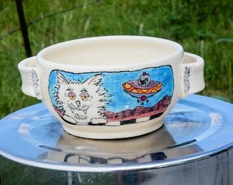 Hand-Painted Porcelain Bowl