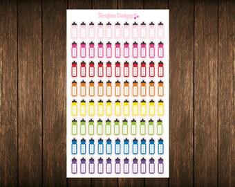 Water Bottle Hydration Tracker Planner Stickers Erin Condren Sticker, Happy Planner Stickers, Plum Paper Planner Stickers