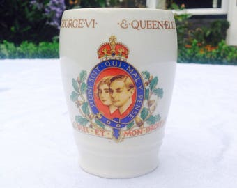 1937 coronation cup George 6th and Queen Elizabeth Queen mother