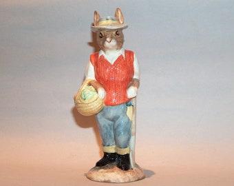 8544: Vintage Beswick Gardener Rabbit ECF3 Figurine English Country Folk at Vintageway Furniture