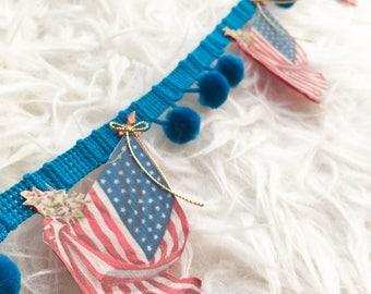 Banner 4th of July garland AMERICANA spring decor