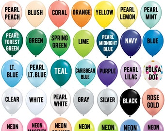 """11"""" Latex Color Balloon - CHOOSE YOUR COLORS - Custom Color Balloons - Pink Balloons - Blue Balloons - Birthday Party Balloons - Photoprop"""