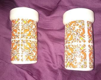 Retro Orange Salt and Pepper shakers