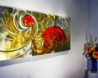 Wilmos Kovacs Sunshine Art Metal Wall Sculpture Abstract Decor Painting W206