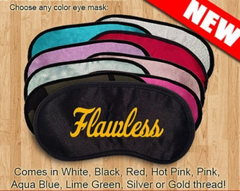 Flawless Custom Made Embroidered Eye Mask - favorite on pinterest tumblr instagram polyvore