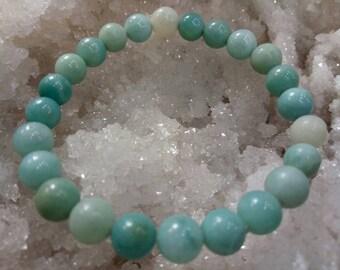 Amazonite Bracelet - Sky Blue Jewelry, Amazonite Jewelry, Healing Bracelet, Bracelet Gift Idea for Her, Sea Blue Bracelet