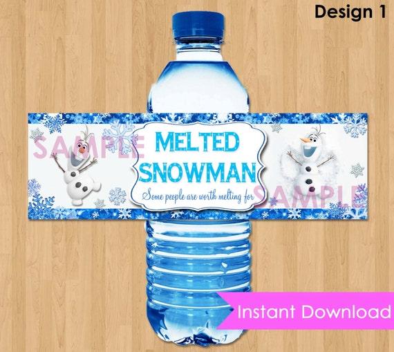 Disney Frozen Bottle Labels INSTANT DOWNLOAD 2.5x8