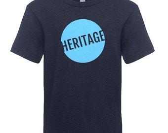 HERITAGE Boys Tri-Blend Crew (Vintage Navy / Light Blue)