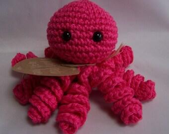 crochet octopus rattle
